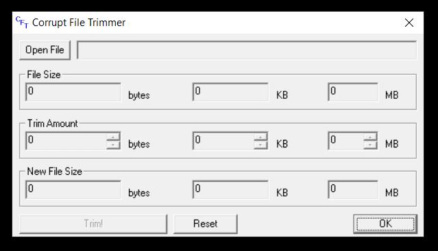 Corrupt File Trimmer